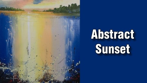 Learn how to paint an abstract sunset