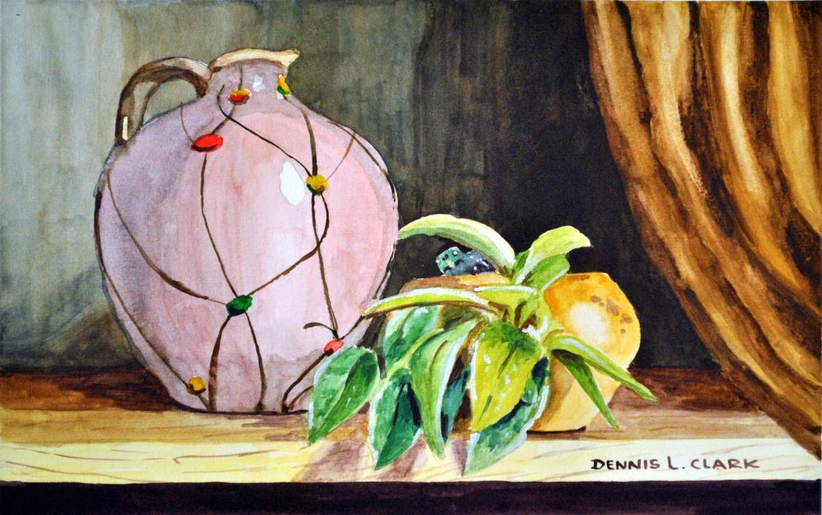 How To Paint A Vase And Plant Still Life In Watercolor Online Art Lessons