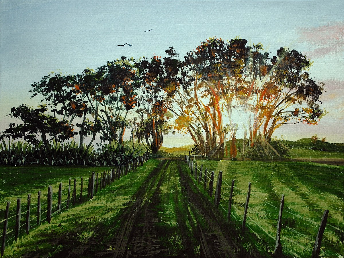 How To Paint Sunset Trees In Acrylic Online Art Lessons