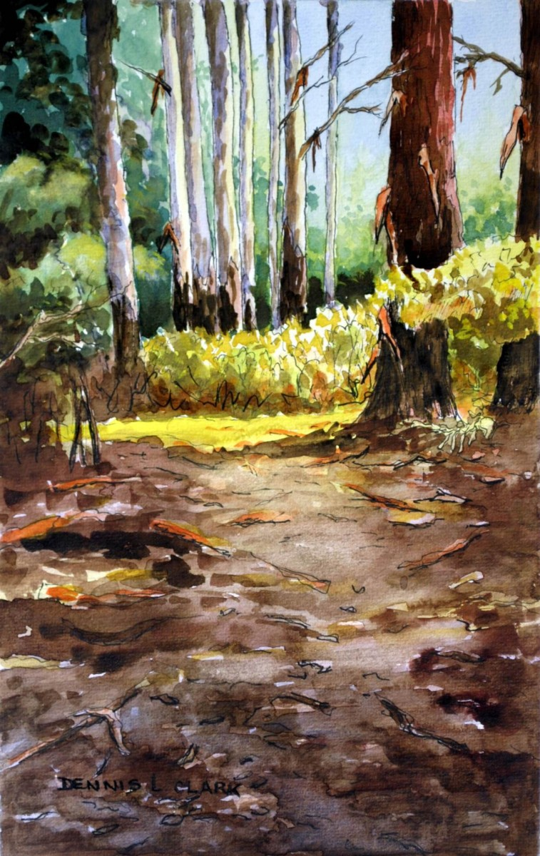 How To Paint Bluegum Trees In Forest In Watercolor Online Art Lessons