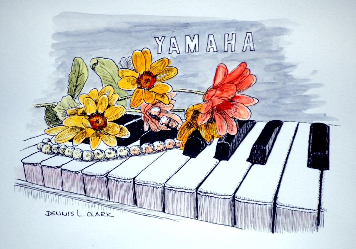 How To Draw Flowers On Piano In Pen And Ink Online Art Lessons Almost files can be used for commercial. to draw flowers on piano in pen and ink