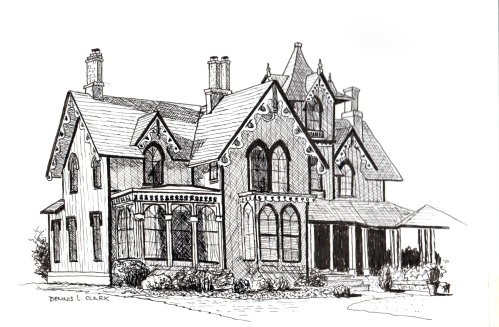 How To Draw A Beautiful House In Pen And Ink Online Art Lessons