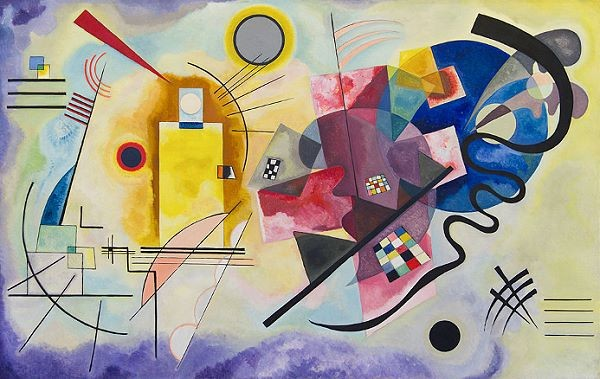 Wassily Kandinsky's Yellow-Red-Blue abstract painting