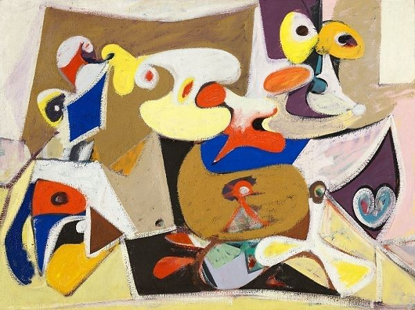 Arshile Gorky's abstract expressionist painting titled After Xhorkum