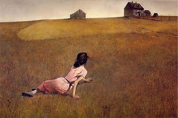 Wyeth painting showing imaginary line