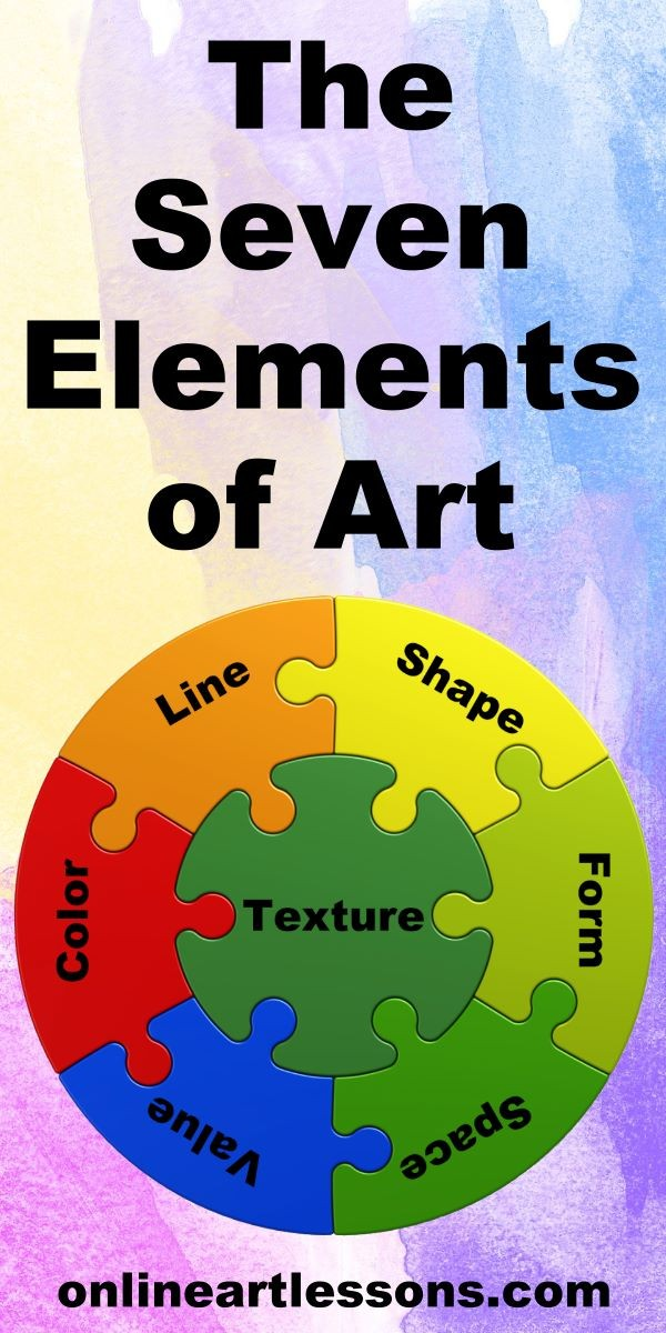 Learn what the 7 elements of art are and how you can use them to add extra depth, dimension and interest to your artworks. Online art lesson for Paint Basket and Nolan Clark. art class, art lesson, art basics, art elements