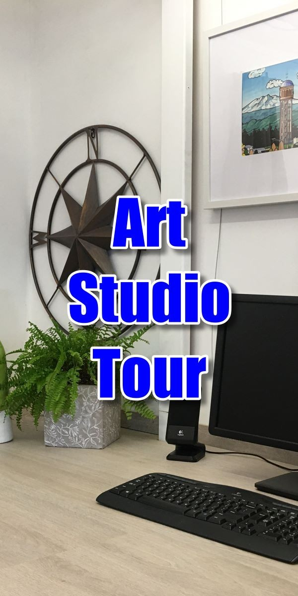View a tour of the Paint Basket art studio
