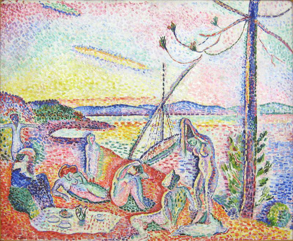 Pointilism painting by Matisse