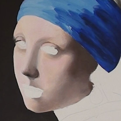 girl with pearl earring- painting the portrait smoothing layer background