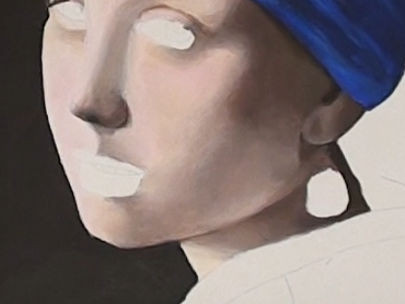 girl with pearl earring- painting the neck