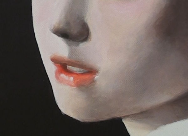 girl with pearl earring- painting the mouth