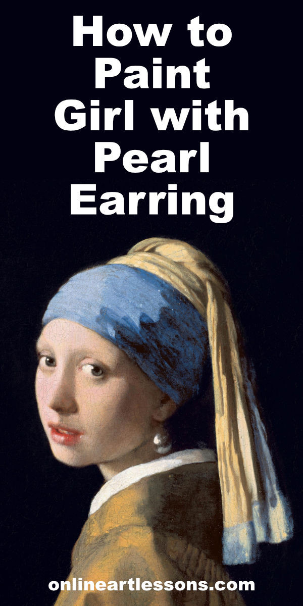 Learn how to paint Girl with Pearl Earring by Johannes Vermeer in this online art class by Nolan Clark. During the lesson you will learn how to paint the headband, how to paint skin, how to paint eyes, how to paint a mouth, how to paint ears as well as how to paint material. Online art lessons, online art classes, how to piant, acrylic painting lessons