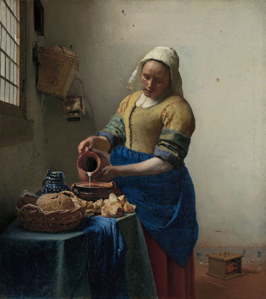 The Milkmaid by Johannes Vermeer is a narrative painting