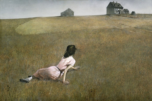 narrative artwork by Andrew Wyeth called Christina's World