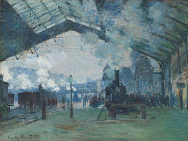 "Monet's ""Arrival of the Normandy train"" is a narrative artwork as it is non static"