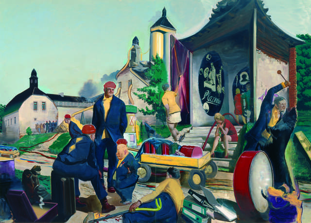 Neo Rauch Der Rückzug is a great example of contemporary narrative art