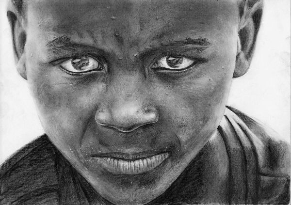 Child portrait showing less is more for narrative art