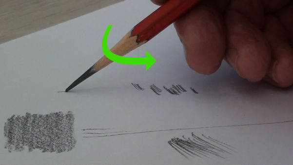 rotate your pencil as you draw