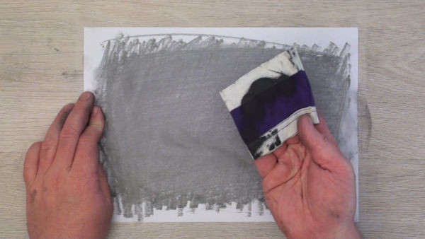 pick up graphite onto cloth