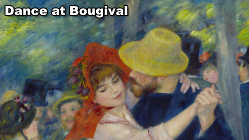 How to paint Dance at Bougival by Renoir