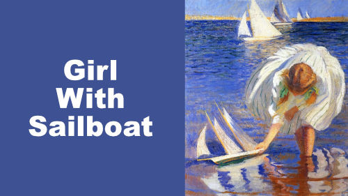 How to Paint Girl with Sailboat